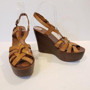 Michael Kors | leather strappy platform sandal
